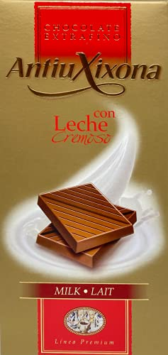 Antiu Xixona Premium - Chocolate con Leche, 125 Gramos