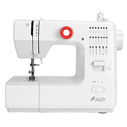 Máquina de coser portátil, mini máquinas de coser eléctricas para el hogar, 20 puntadas 2 velocidades con pedal para coser en casa, principiantes, niños