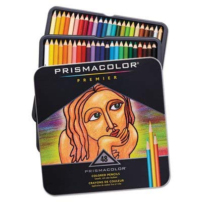 Premier Colored Woodcase Pencils, 48 Assorted Colors/Set -  Sanford, 3598THT