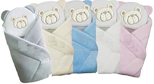 Baby Einschlagdecke auf Wunsch mit Namen bestickt, Babynest, Pucktuch inkl. Kissen (ohne Bestickung, beige)