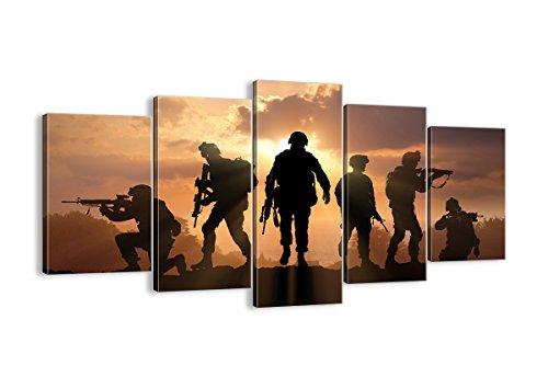 Bild auf Leinwand - Leinwandbilder - fünf Teile - Breite: 160cm, Höhe: 85cm - Bildnummer 2962 - fünfteilig - mehrteilig - zum Aufhängen bereit - Bilder - Kunstdruck - EA160x85-2962