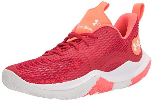 Under Armour Zapatillas de baloncesto Spawn 3 para hombre, rojo (Rojo (600)/Blanco), 43 EU