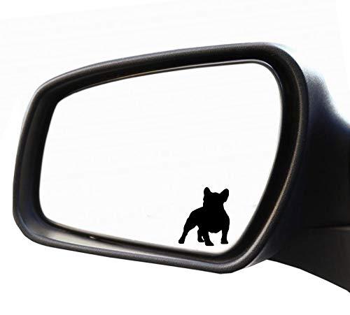 HR-WERBEDESIGN 2X Aufkleber Spiegel Französische Bulldogge Nummernschild Kennzeichen Dog Frenc
