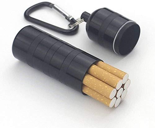 Sooiy Die Schachtel Zigaretten in wasserdichte Aluminiumlegierung Wasserdicht Im Wassertank bewegliche wasserdichte Männer können 7-8, Schwarz, 2.8X10.5CM Beherbergungs