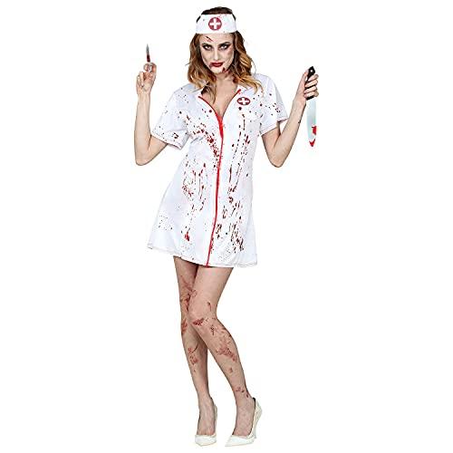WIDMANN 99024 99024 - Disfraz de enfermera zombi, vestido, sombrero, Halloween, mujer, multicolor, XL
