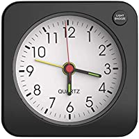 MoKo Small Battery Travel Alarm Clock (Black)