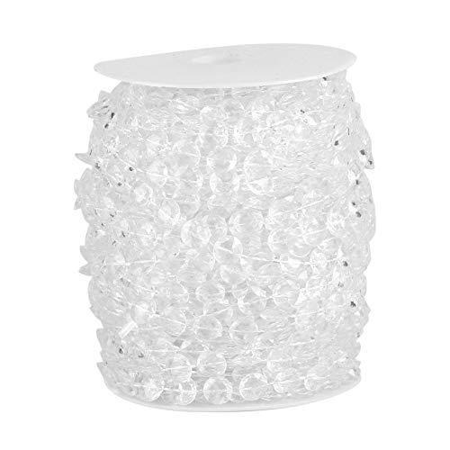 Oumefar 99ft Garland Diamond Acrylic Crystal Bead Crystal Clear Beads for DIY Wedding Party Doorways Decoration