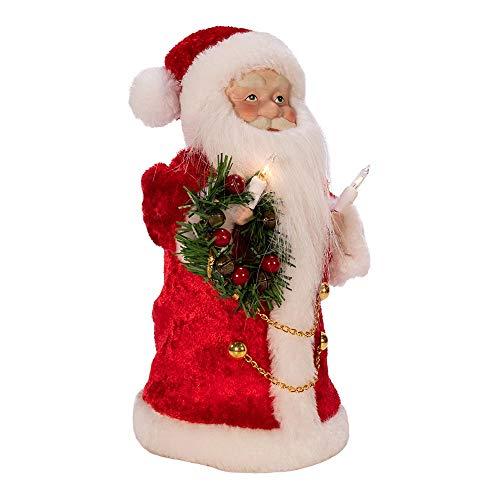 Kurt S. Adler Kurt Adler Inch UL 10-Light Santa Treetop, Multi
