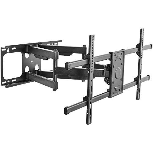 Soporte de pared para TV ajustable de hierro para la mayoría de televisores planos curvos de 32 a 55 pulgadas, soporte de pared giratorio para TV de hasta 25 kg de altura inclinable ajustable, VESA má