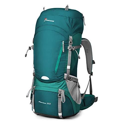 MOUNTAINTOP 55L/65L Mochila Trekking Hombre Mujer Mochila de Senderismo Gran Capacidad Mochilas de Montaña con Cubierta de Lluvia para Escalada Viaje Acampada