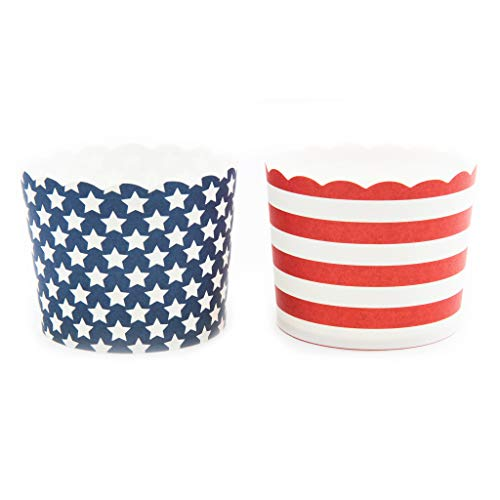 Simply Baked 3CLG-359 Paper Baking Cups, Large, American Flag