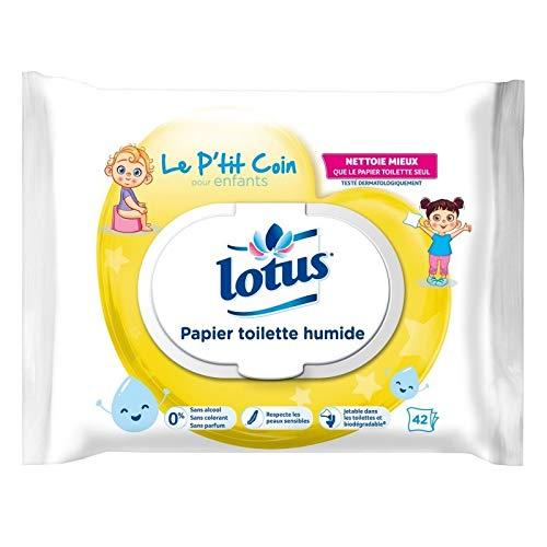 Lotus Toilettenpapier Feuchtes Toilettenpapier für Kinder, 42 Tücher (6 Stück)