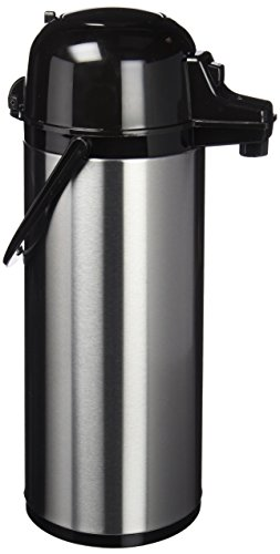 Quid 7520006 Xylon - Isotermo Café con Surtidor Doble Pared Vidrio/ Acero Inoxidable, 1.9 Litros, color Negro