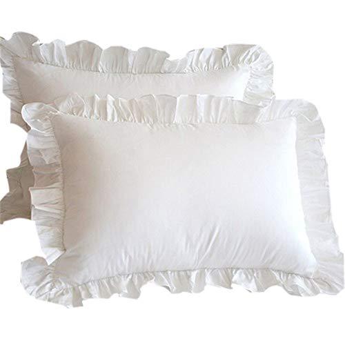2pc Blanco Funda de almohada Ropa de cama Almohada de almohada de almohada de la almohada de la almohada de la almohada 48x74cm para la oficina de la sala de estar es super suave cómodo más duradero