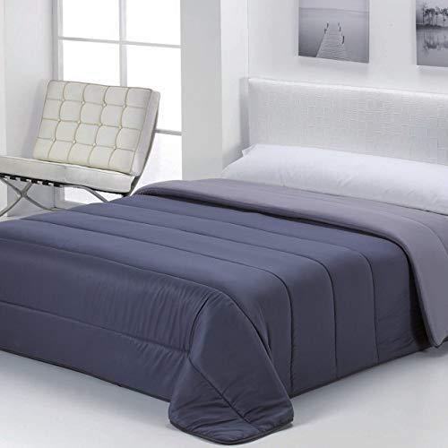Energy Colors Textil - Hogar Edredón nórdico de 350 g Reversible (Bicolor). Siber (Gris, Cama 90/105-180_x_260_cm)