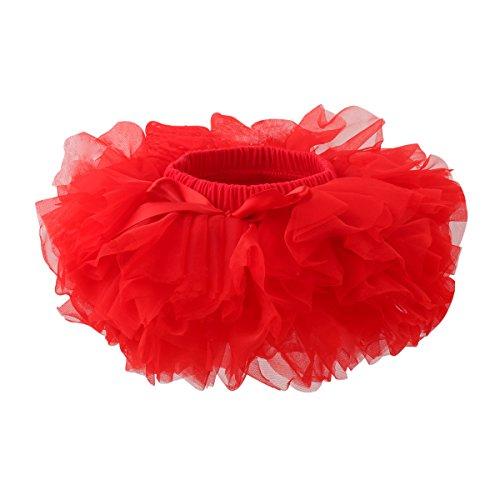 Slowera Baby Girls Soft Tutu Skirt (Skorts) 0 to 36 Months (12-24 Months, Red)