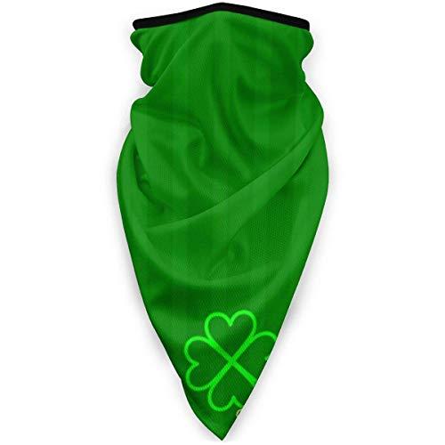 Yearinspace Verde Clover al aire libre máscara de la boca a prueba de viento máscara de esquí máscara escudo bufanda bandaMen mujer