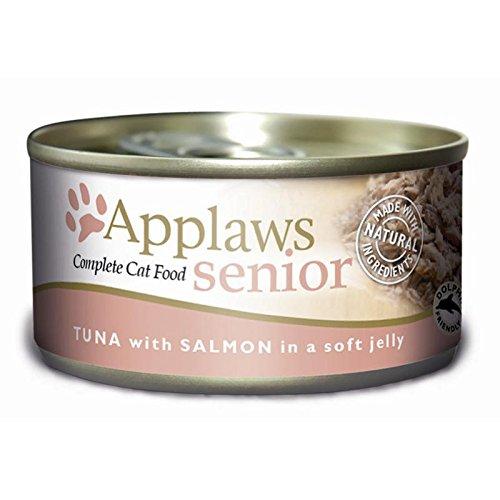 Applaws Cat lata Senior Atún salmón en jalea 48x 70g