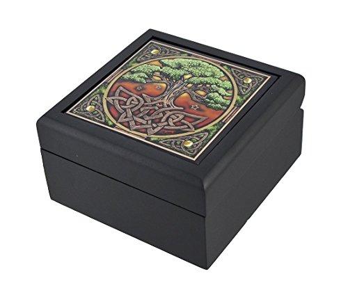 Lisa Parker Celtic Tree of Life Art Tile Trinket Jewelry Keepsake Box