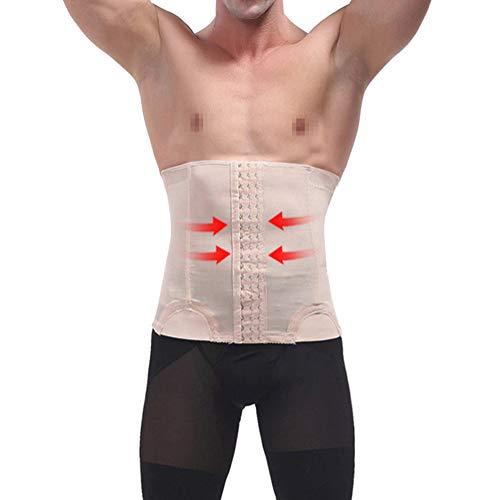 Hombre Fajas para Disimular Barriga Corsets Adelgazantes Cinturilla Reductoras Abdomen,Piel,XL