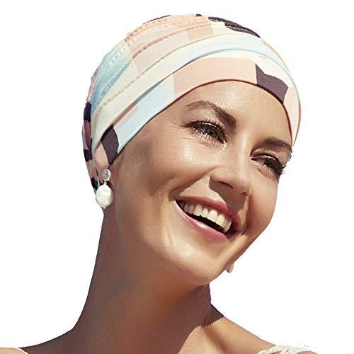 Christine Headwear Bambus Turban Yoga -Neue Frühjahr-Sommer-Kollektion- (Quadrate in Pastelltönen)