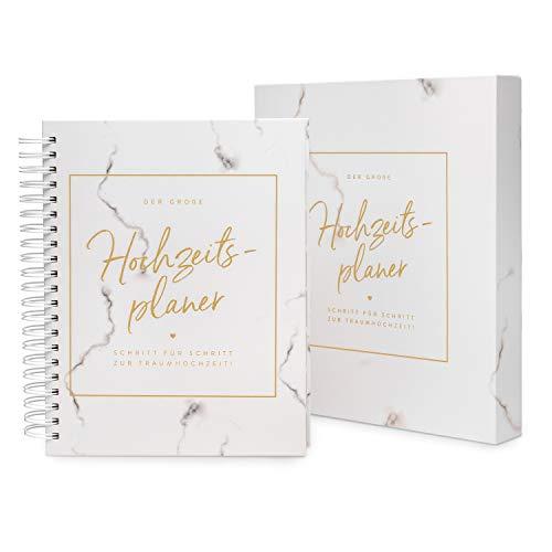 TWIVEE - Der große Hochzeitsplaner - Wedding Planner inklusive Geschenkbox - deutsch - über 200 Seiten - Organizer mit Kalender - Buch zur Hochzeit - Tolles Geschenk zur Verlobung