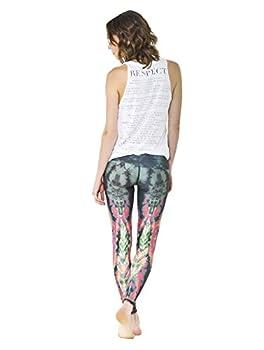 Teeki Women s Leggings or Hot Pants Medium Eagle Feather Green Pattern