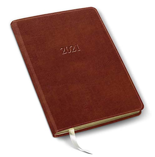 2021 Leather Desk Weekly Planner - Acadia Tan