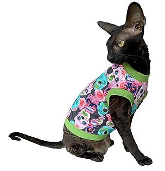 Kotomoda T-shirt en coton stretch pour chat Sphynx