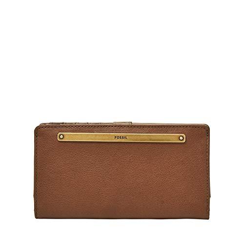 Fossil Women's Liza Leather Slim Bifold Wallet, Brown