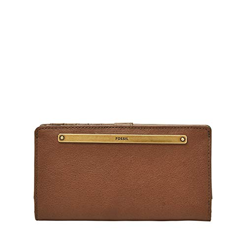 Fossil Women's Liza Leather Slim Bifold Wallet, Brown