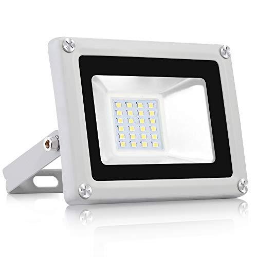 Projecteur LED Extérieur 20W 1600lm Floodlight Lumières de paysage 6500K Blanc froid Projecteur Lumière Imperméable IP65 Spotlight pour pour Jardin Terrasse Garage Cour Usine