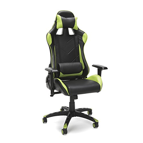 OFM Essentials Collection Racing Style Bonded Leather Gaming Chair, in...