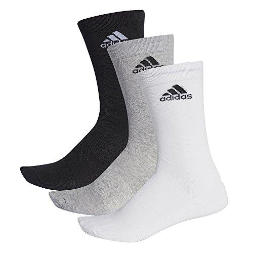 Adidas per Crew T 3Pp Calcetines, Hombre, Negro (Gris/Blanco