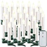 Lunartec Christbaum-LED-Kerzen: 30er-Set LED-Outdoor-Weihnachtsbaum-Kerzen mit IR-Fernbedienung, IP44 (Kabellose LED-Weihnachtskerzen)