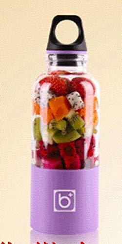 ZHAS Saftpresse Elektrische Fruchtsaft Tasse Saft Tasse Rührbecher Ladegerät Tragbare Mini Saftpresse Entsafter, Lila