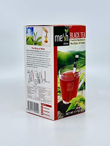 Mesh Schwarzer Tee / Black Tea 16 Sticks - Tee genießen leicht gemacht - Kein Beutel, Kein Tropfen, Kein Löffel - Einfach in der Handhabung, natürlich im Geschmack!