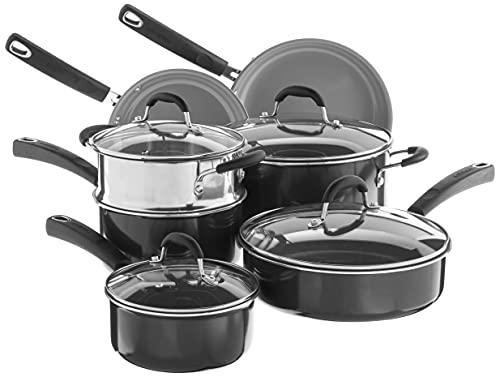 Cuisinart Advantage Ceramica XT Cookware Set, Medium, Black