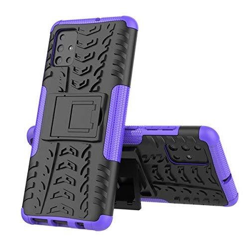 xinyunew Handyhülle LG V60 Hülle,Hülle 360 Grad Ganzkörper Schutzhülle+Panzerglas Schutzfolie Schützend Handys Schut zhülle Tasche Cover Skin mit Ständer Lila