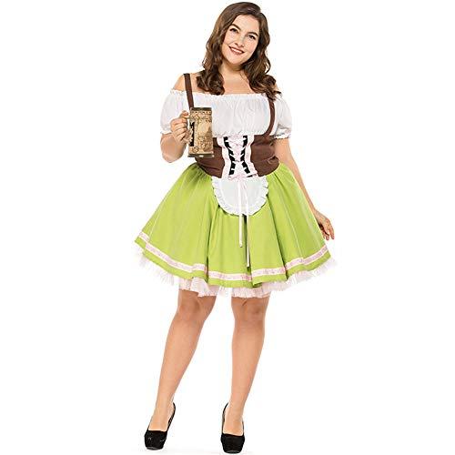 WYX Halloween-Kostüme Tracht Bierfest Lange Bier Mädchen-Service Kellnerin Karneval Kostüm,a,L