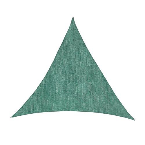 jarolift Sonnensegel Dreieck Gleichseitig Atmungsaktiv Sonnenschutz Sichtschutz für Balkon Terrasse Garten HDPE-Gewebe, 500 x 500 x 500 cm, Grün