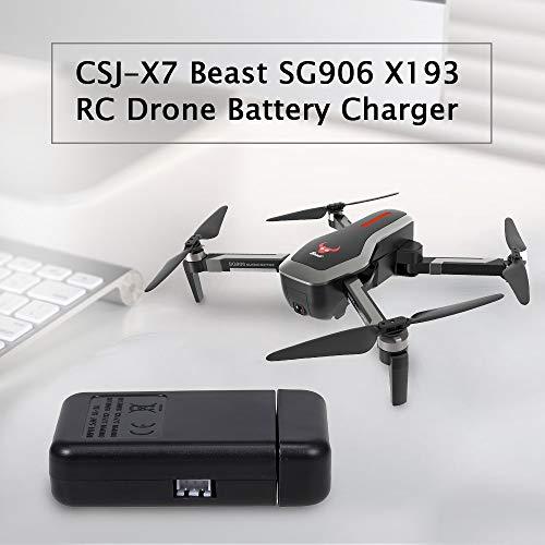 Goolsky 2 in 1 Drohnen Ladegerät für CSJ-X7 Beast SG906 X193 RC Zubehör zum Schnellladen