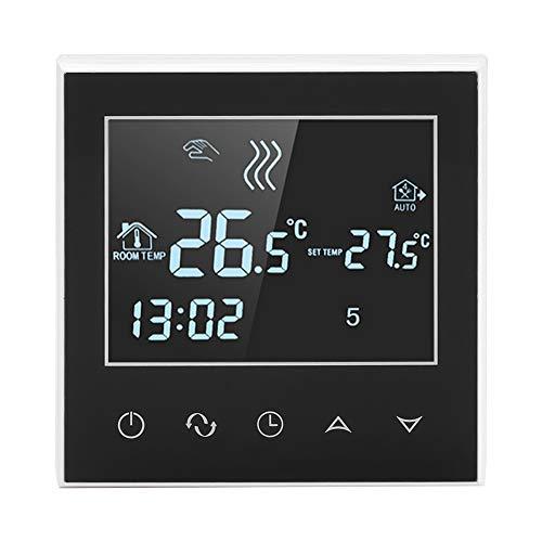 Oumefar Termostato digital con pantalla retroiluminada, función de control remoto wifi, seguro y fiable cuando se usa automáticamente, función de calibración, control de teléfono móvil.