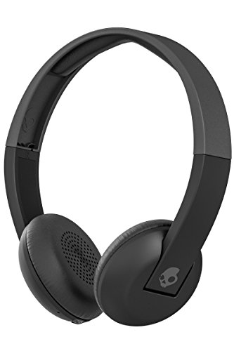 Skullcandy Uproar Bluetooth Wireless On-Ear Headphones with Built-in Microphone and Remote, Rechargeable Battery, Soft Synthetic Leather Ear Pillows for Comfort, Black
