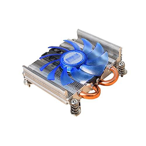 LLRZ Centilador CPU CPU Cooler con 2 tampones de Calor de Contacto Directo 80 mm Silent PWM Perfil Perfil Mini CPU Refrigerador de Aire Solución de Socket Universal Sistema Refrigeración