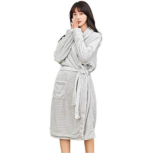 Warme zachte dressoir lange Kimono gewaad winter dikke Housecoat, vrouwen & mannen koraal fleece badjas