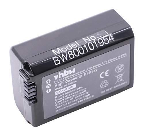 vhbw batería Chip de información Compatible con Sony Alpha ILCE-7RM2, NEX-3, NEX-3A, NEX-3D, NEX-3DW, NEX-3K cámara Digital (950mAh, 7.2V, Li-Ion)