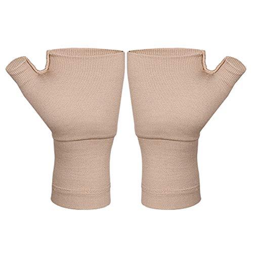 Healifty 1 Paar Arthritishandschuhe Fingerlose Kompressionshandschuhe Daumen Handgelenkstütze für Arthritis Karpaltunnel Schmerzlinderung für Frauen Männer (Größe M)
