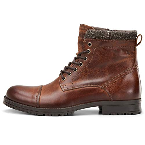 Jack&Jones schoenen boots 12167093 JFWMARLY Leather Cognac