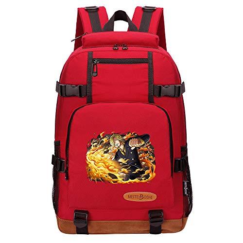CXWLK Mochila Mujer Casual Escolar De Moda para Portatil Backpack Mochilas Impermeable para Trabajo Bag Mochila De Gran Capacidad,One Piece,Red,46cmX29cmX13cm